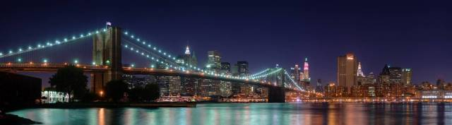 Brooklyn Bridge at night picture