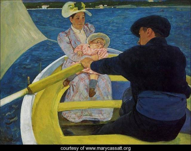 """The Boating Party"" by Mary Cassatt c. 1894-1895"