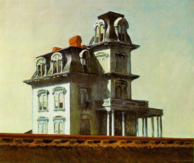 House by the Railroad by Edward Hopper, c. 1925