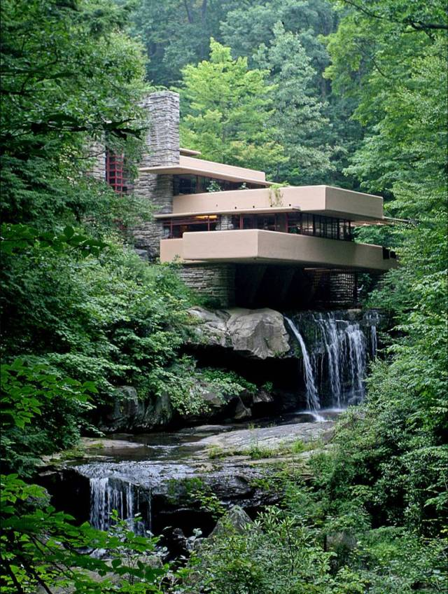 Fallingwater designed by Frand Lloyd Wright c. 1935 - 1939